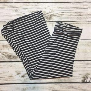 J. Crew navy & white striped maxi skirt